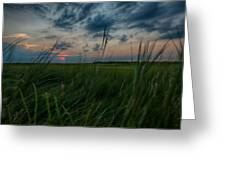 Sunset In Margate Nj Greeting Card