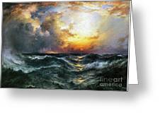 Sunset In Mid-ocean Greeting Card