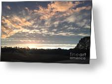 Sunset In November  Greeting Card