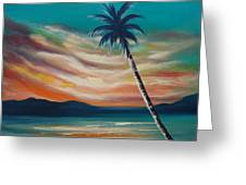 Sunset In Paradise  Greeting Card
