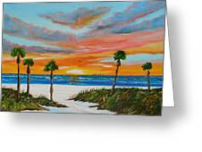 Sunset In Paradise Greeting Card by Lloyd Dobson