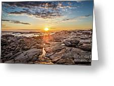 Sunset In Prospect, Nova Scotia Greeting Card