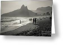 Sunset In Rio De Janeiro Greeting Card