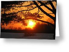 Sunset In Rising Sun Greeting Card