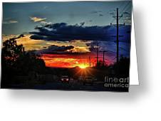 Sunset In Santa Fe Greeting Card