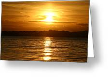 Sunset In Shelter Island  Greeting Card
