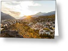 Sunset In Sion Greeting Card