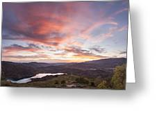 Sunset In Siurana, Spain Greeting Card