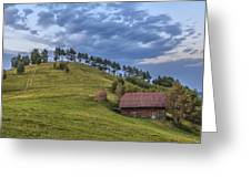 Sunset In The Carpathians Greeting Card