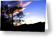 Sunset In The Highlands Greeting Card