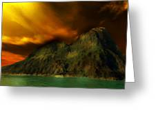 Sunset In The Island Greeting Card