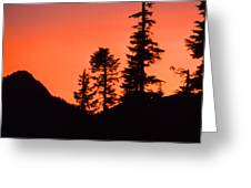 Sunset In The Mountains 2 Greeting Card