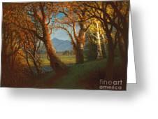 Sunset In The Nebraska Territory Greeting Card by Albert Bierstadt