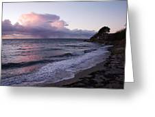 Sunset In The Ocean Greeting Card