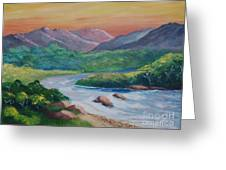 Sunset In The River Greeting Card