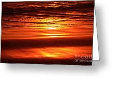 Sunset In The Sand Greeting Card