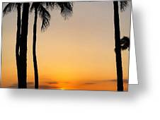 Sunset In The Sandwich Isles  Greeting Card