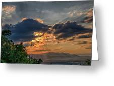 Sunset In The Shenandoah Valley Greeting Card