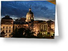 Sunset In The State Of Indiana Greeting Card