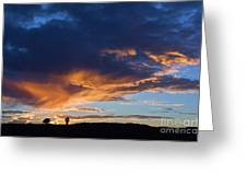 Sunset In Utah Greeting Card