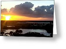Sunset In Viera Florida Greeting Card
