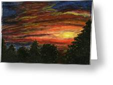 Sunset In Washington State Greeting Card