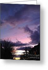 Sunset In Winter Skies  Greeting Card