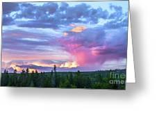 Sunset In Yellowstone Greeting Card