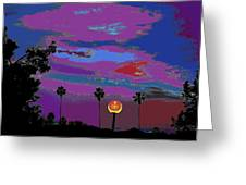 Sunset In Your Colorful Moon Greeting Card