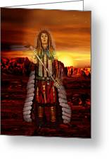 Sunset Indian Chief Greeting Card
