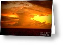 Sunset Indian Ocean Greeting Card
