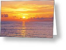 Sunset, Indian Rocks Beach, Florida, Usa Greeting Card