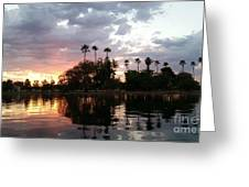 Sunset Island In Chaparral Lake Horizontal  Greeting Card