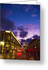 Sunset It Campeche City Downtown Greeting Card