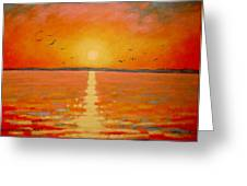 Sunset Greeting Card by John  Nolan