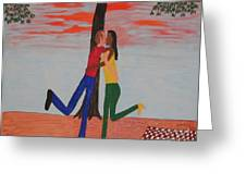 Sunset Kiss Greeting Card