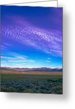 Sunset La Vega Costilla County Co Greeting Card