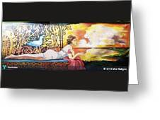 Sunset Lady Greeting Card