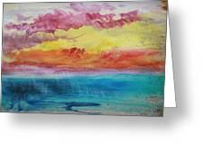 Sunset Lagoon Greeting Card