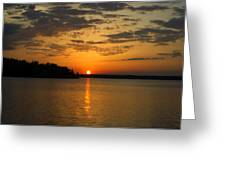 Sunset Lake Pat Mayse From Sanders Cove Greeting Card