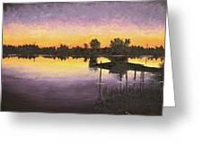 Sunset At Ryba Lake Greeting Card