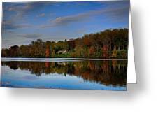 Sunset Lake View Greeting Card