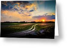 Sunset Lane Greeting Card