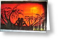 Sunset Love Greeting Card