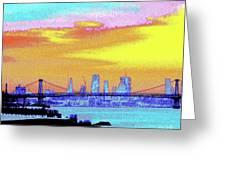 Sunset Lower Manhattan 2c5 Greeting Card