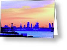 Sunset Lower Manhattan 2c2 Greeting Card