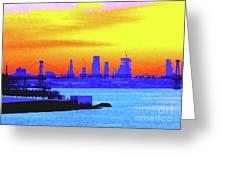 Sunset Lower Manhattan 2c3 Greeting Card