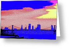 Sunset Lower Manhattan 2c7 Greeting Card