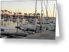 Sunset Marina Del Ray Marina Greeting Card
