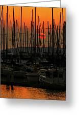 Sunset Marina Greeting Card